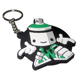 silicon rubber keyrings